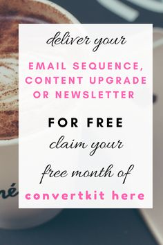 Deliver your email sequence, content upgrade, or newsletter for free. Claim your free month of convertkit here via my affiliate link. Online Email, Online Income, Pinterest For Business, Blogger Tips, New Things To Learn, Free Blog, Make More Money, Blogging For Beginners, How To Start A Blog