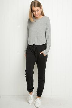 Brandy ♥ Melville | Rosa Sweatpants - Pants - Bottoms - Clothing I have these and they are awesomeness!!! -ken