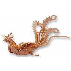 3-D Wooden Puzzle - Phoenix -Affordable Gift for your Little One! Item #DCHI-WPZ-M033