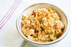 Deviled Egg Salad ~ An egg salad made in the style of deviled eggs, with mustard, mayo, hot sauce and paprika. ~ SimplyRecipes.com #sidedish #gluten-free #lowcarb #egg