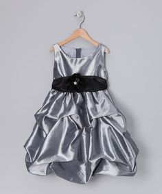 Take a look at this Gray Fancy Bon Bon Dress - Infant, Toddler & Girls on zulily today!