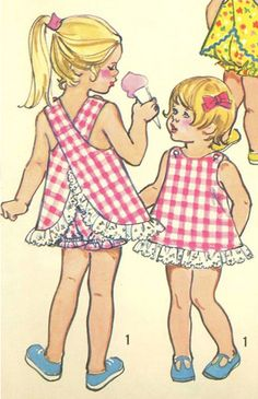 Simplicity Patterns - My Mom used to sew my sister and me matching outfits...then my sister had to wear it again when she grew into mine! That's the benefit of being the oldest I guess:)
