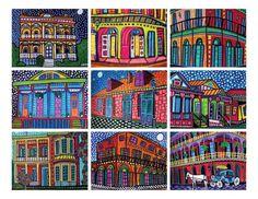 New Orleans -- HeatherGallerArt -- Etsy  24.00 Cute small pieces