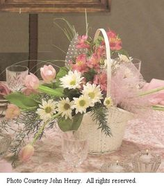 "Tulle Decorations for Weddings; See hundreds of pages filled with ideas for churches, bouquets, corsages, centerpieces & more. Easy ""how to"" step-by-step flower tutorials."