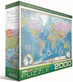 76 best puzzles images on pinterest puzzles jigsaw puzzles and toy euro graphics map of the world puzzle 2000 piece by euro graphics english gumiabroncs Gallery