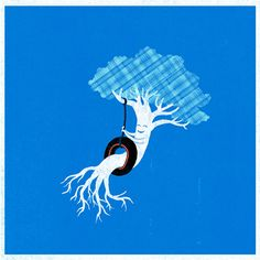 cute illustration of a tree Tang Yau Hoong, Funny Doodles, Whimsical Art, Funny Art, Cute Illustration, Minimal Design, Some Pictures, Art And Architecture, Vector Graphics