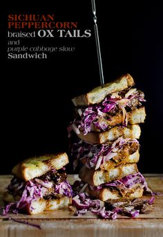 sichuan peppercorn braised oxtail sandwich