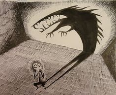 Pen & Ink Fears.. I saw this done at another high school, and it was fabulous!