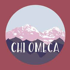 Chi Omega Mountain Design // College Hill Custom Threads sorority and fraternity greek apparel and products!