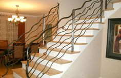 custom designed art railing