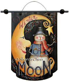Winter Moon Banner e-Pattern DOWNLOAD