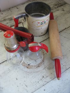 farmhouse kitchen utensil collection red by rivertownvintage, $45.00