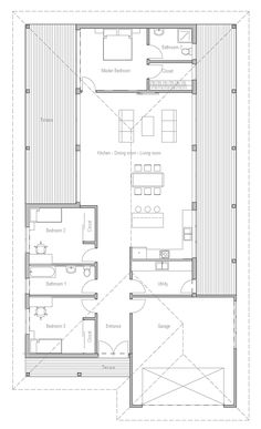 New Modern Home, three bedrooms, suitable to narrow lot.