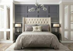 Home Bedroom Design, Loft Interior Design, Bed Design, Bedroom Wall, Bedroom Decor, American Bedroom, Modern Scandinavian Interior, Luxury Homes Dream Houses, Luxurious Bedrooms