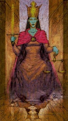 Nice Karmic imagery --> Justice - Tarot of Reflections