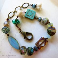NEW Hand Knotted Bracelet with CZECH Glass by RusticAdornments