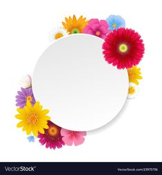 Banner with summer flowers white background vector image on VectorStock Background Wallpaper For Photoshop, Flower Background Wallpaper, Flower Backgrounds, Background Banner, Beautiful Art Pictures, Beautiful Gif, Blue Texture Background, Islamic Posters, Apple Wallpaper Iphone
