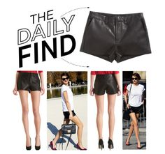 """""""The Daily Find: J Brand Lola Leather Short"""" by polyvore-editorial ❤ liked on Polyvore"""