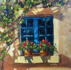 DPW Fine Art Friendly Auctions - Two Geraniums by Libby Anderson