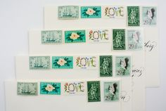 Beautiful Vintage Postage | Botanical Wedding Invitation Stamps from Magnolia Postage (Love in Flowers Stamps, Gardening and Horticulture Stamps, U.S.S. Constitution Stamps, Mississippi Stamps, Magnolia Stamps, Crane Stamps)