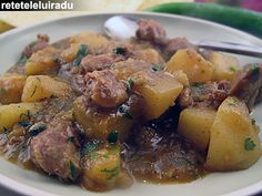 Chicken gizzard and hearts curry with potatoes and garam masala
