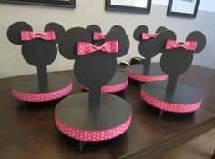 Mouse Inspired Cake Pop or Lollipop Stand HOT PINK by mcreations4u, $20.00