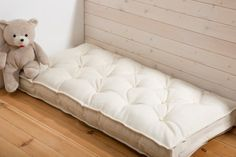 "All Wool Cot Mattress 60 x 120 x 10 cm / 47"" x 23"" x 4"" / cover - lambswool fabric; filling -  pure new wool"