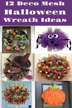 Deco mesh wreaths are one of the easiest ways to create unique decor for your home! You'll use these Halloween wreaths year after year.