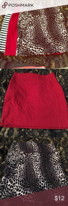 3 stretch mini skirt Worn once Skirts Mini