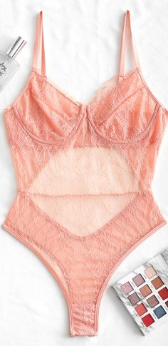 Material: Polyester,Polyurethane Pattern Type: Solid Decoration: Lace Cute Lingerie, Teddy Lingerie, Lingerie Sleepwear, Women Lingerie, Girly Outfits, Cute Outfits, Fashion Outfits, Satin Pj Set, Frases