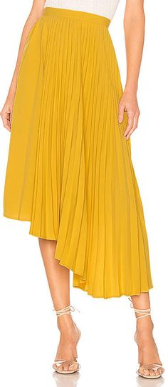 a056cc4ace2546 8 Best Yellow pleated skirt images in 2017 | Dress skirt, Formal ...