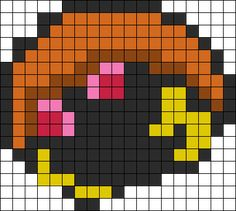 Kabuto Pokemon Perler Bead Pattern / Bead Sprite
