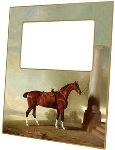 F8603-Chestnut Hunter Horse Picture Frame #Derby #DerbyDay #KentuckyDerby