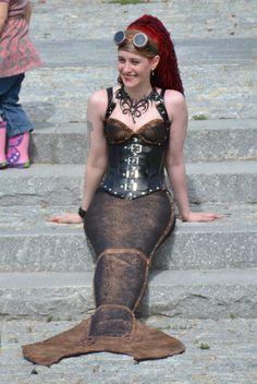 Interesting steampunk mermaid