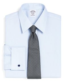 Non-Iron Slim Fit Pique French Cuff Luxury Dress Shirt | Brooks Brothers