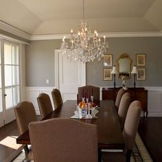Dining Room Remodel Of good Traditional Tray Ceiling Dining Room Design Ideas Nice Dining Room Paint Colors, Dining Room Design, Wall Colors, Traditional Dining Rooms, Traditional Kitchens, Traditional Bedroom, Différents Styles, Wooden Dining Tables, Dining Chairs