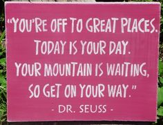 Pink nursery decor Dr. Seuss signs new baby gifts kids room primitives | SleepyHollowPrims - Children's on ArtFire $24.30