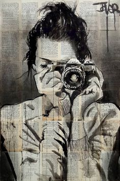 Buy Prints of captured alive, a Ink on Paper by LOUI JOVER from Australia. It portrays: Women, relevant to: louijover, jover, retro, bookpages, drawing ink on vintage book pages adhered together to make one sheet ready to be framed as desired