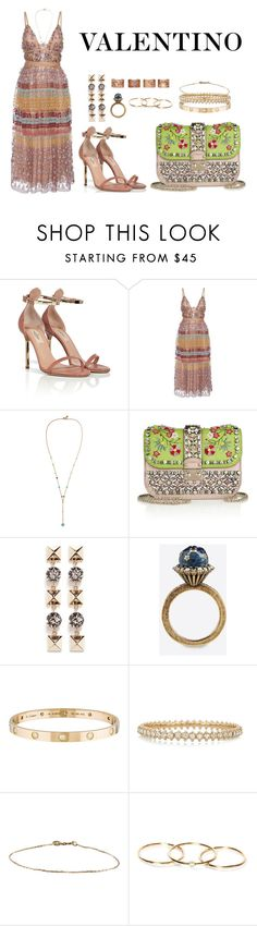 """VALENTINO - PFW"" by anaelle2 ❤ liked on Polyvore featuring Valentino, Cartier and Maison Margiela"