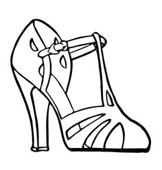 Free Vector Art: High Heel Sandal