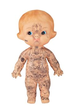 Tattooed Kewpie Doll by Dr Lakra… Mexico Tattoo, The Drawing Center, Toys In The Attic, Dark Photography, Creepy Dolls, Art For Art Sake, Recycled Art, The Guardian, Illustration Art