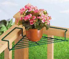 CORNER deck railing planter flower pot rail wire shelf balcony plant table stand