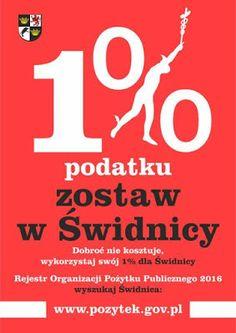 Kryśka szydełkuje: Swój 1% zostaw w Świdnicy..w swoim mieścieWystarcz...