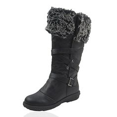 Women's Winter Ice Snow Boots Cold Weather Faux Fur Full Lined Manmade Leather Jessica * Visit the image link more details. (This is an affiliate link) Snow Boots Women, Winter Snow Boots, Jessica Black, Outdoor Woman, Calves, Faux Fur, Comfy, Image Link, Leather
