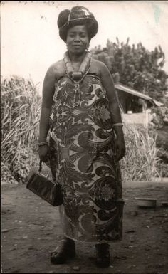 1977 - Nigerian lady, photographer unknown.