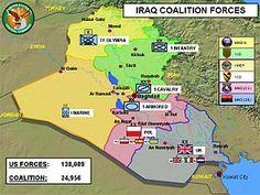 004 Iraq War Map Social Studies The War on Terror Iraq