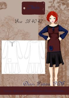 Dark Mori patron vestido talla 38-42 personalizado de AbelisFashion en Etsy