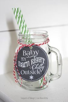 Baby It's  Chilly Hot Cocoa Bar & Free Printable Tags | Snippets of Design