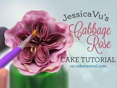 Gumpaste Cabbage Rose – Tutorial – Cake Central | followpics.co