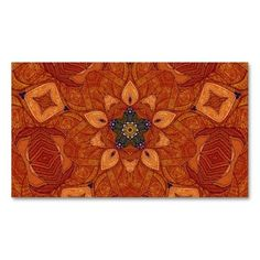 Colorful Abstract Healing Mandala Pattern Business Cards pack of 100